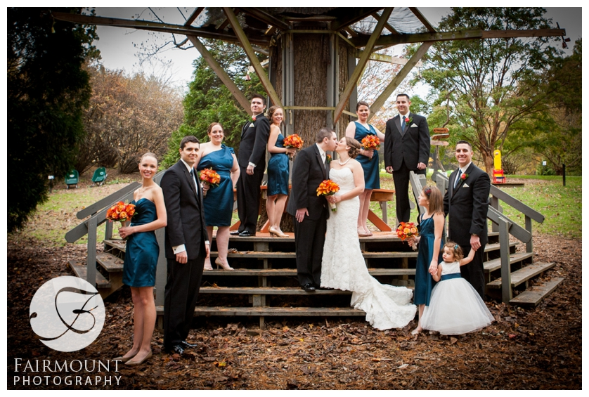Bridal Party Portaits at Tyler Arboretum