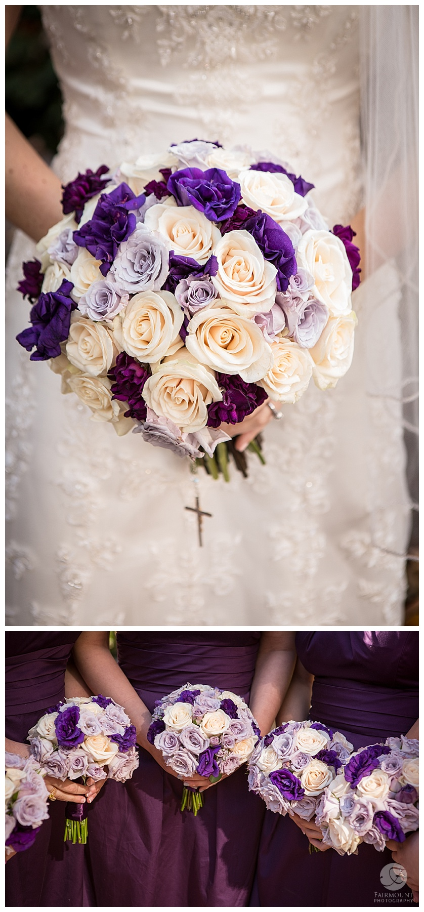 bride and bridesmaids bouquets