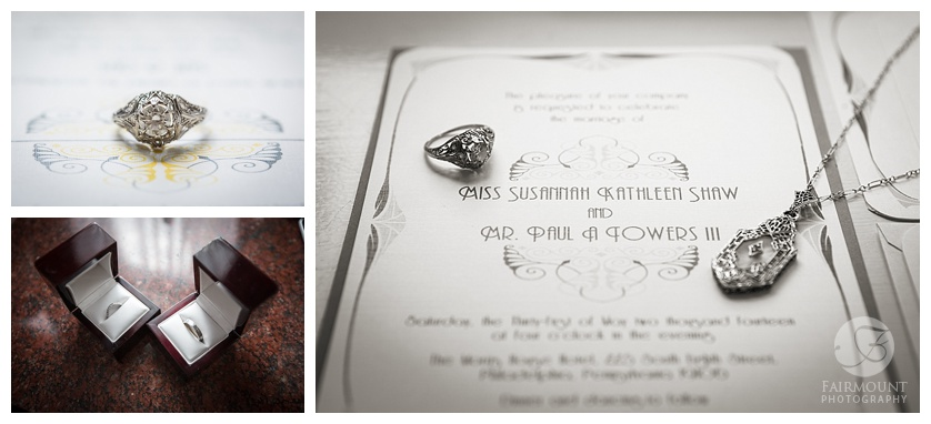 rings and invitation details