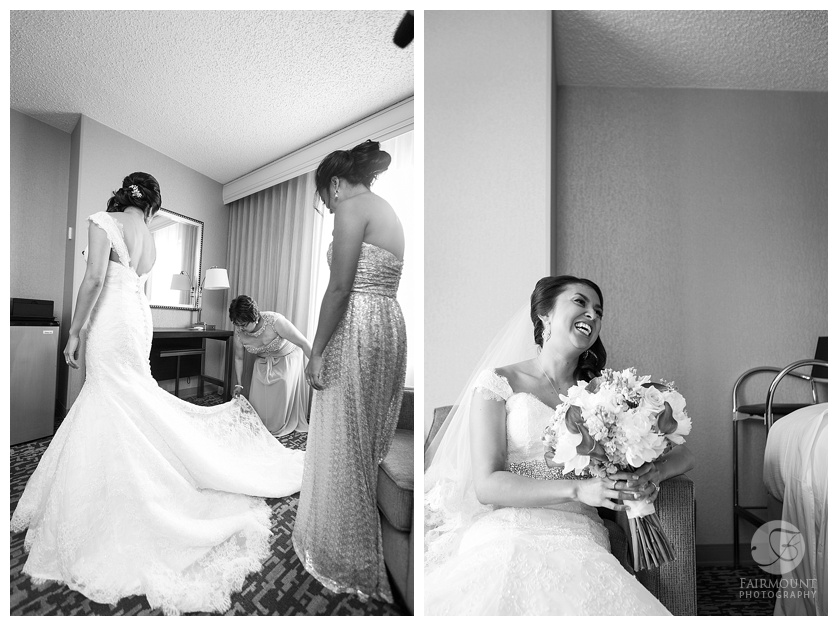 Appleford Estate Wedding Bride getting ready