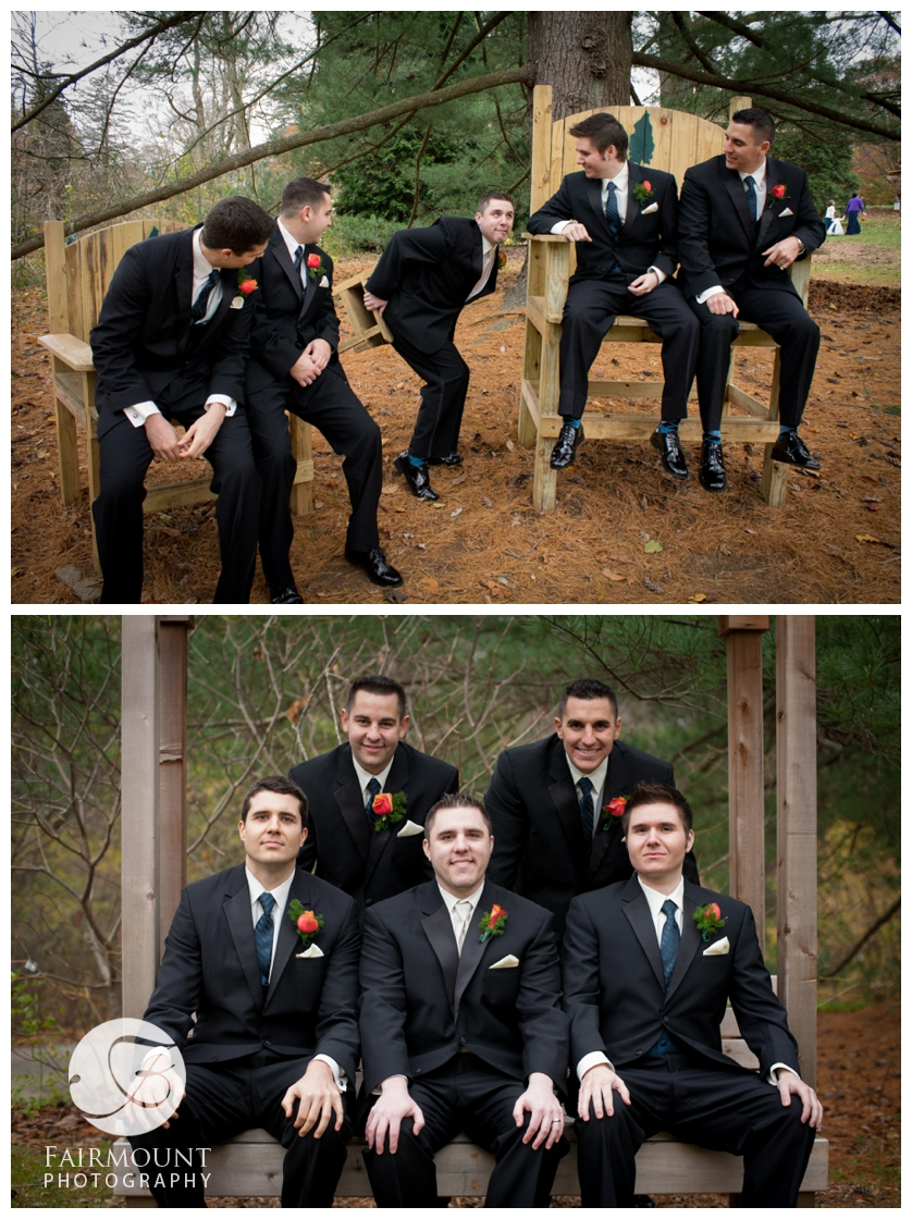 Groom gets stuck in chair