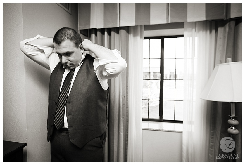 Nothstein Wedding groom getting ready