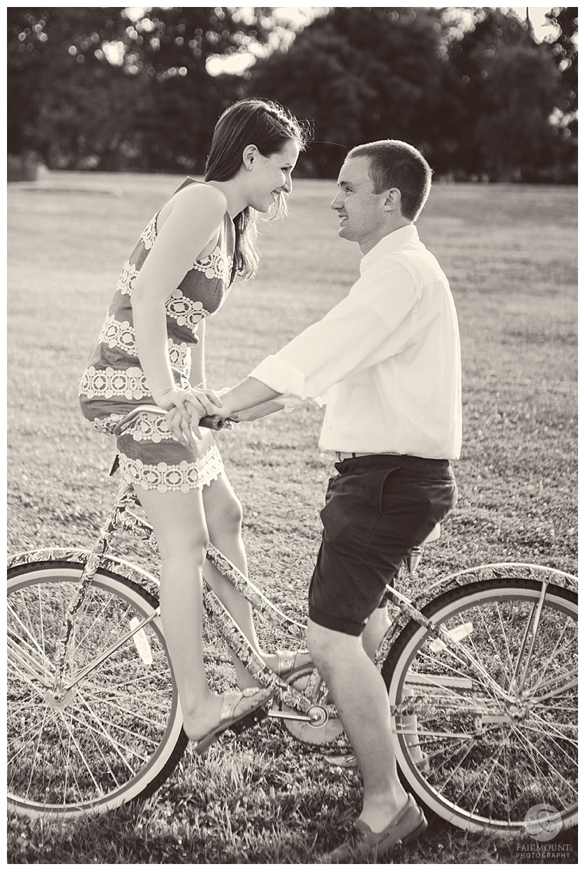 Turezyn Daponte Engagement Rhode Island cute bike shot