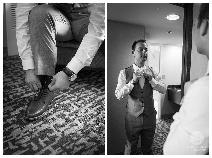 Appleford Estate Wedding Groom Getting Ready