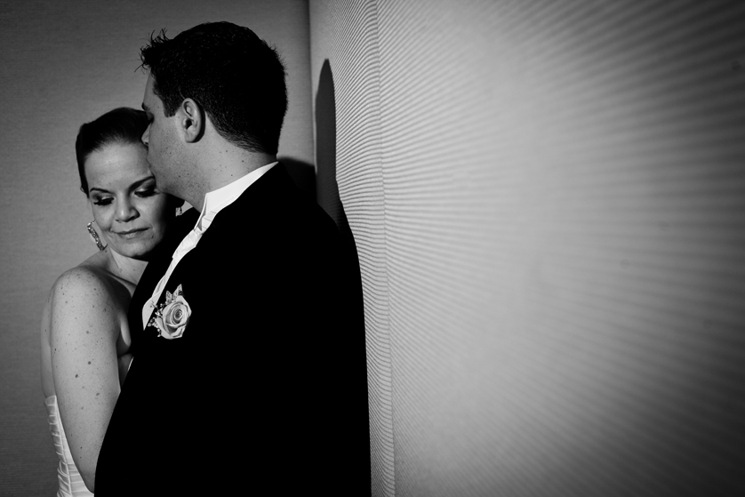 High contrast portrait of Bride and Groom
