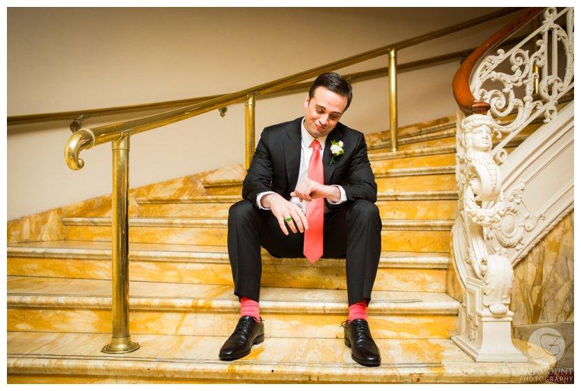 Philadelphia Wedding Photographer Groom Waiting Impatiently
