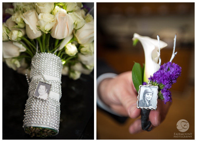 bouquet and boutonniere details