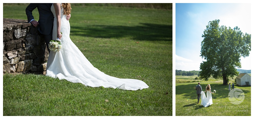 Columbia Station Wedding Bride and Groom Portraits at Valley Forge Park