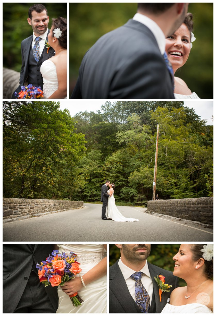 Valley Green Inn bridge wedding portraits