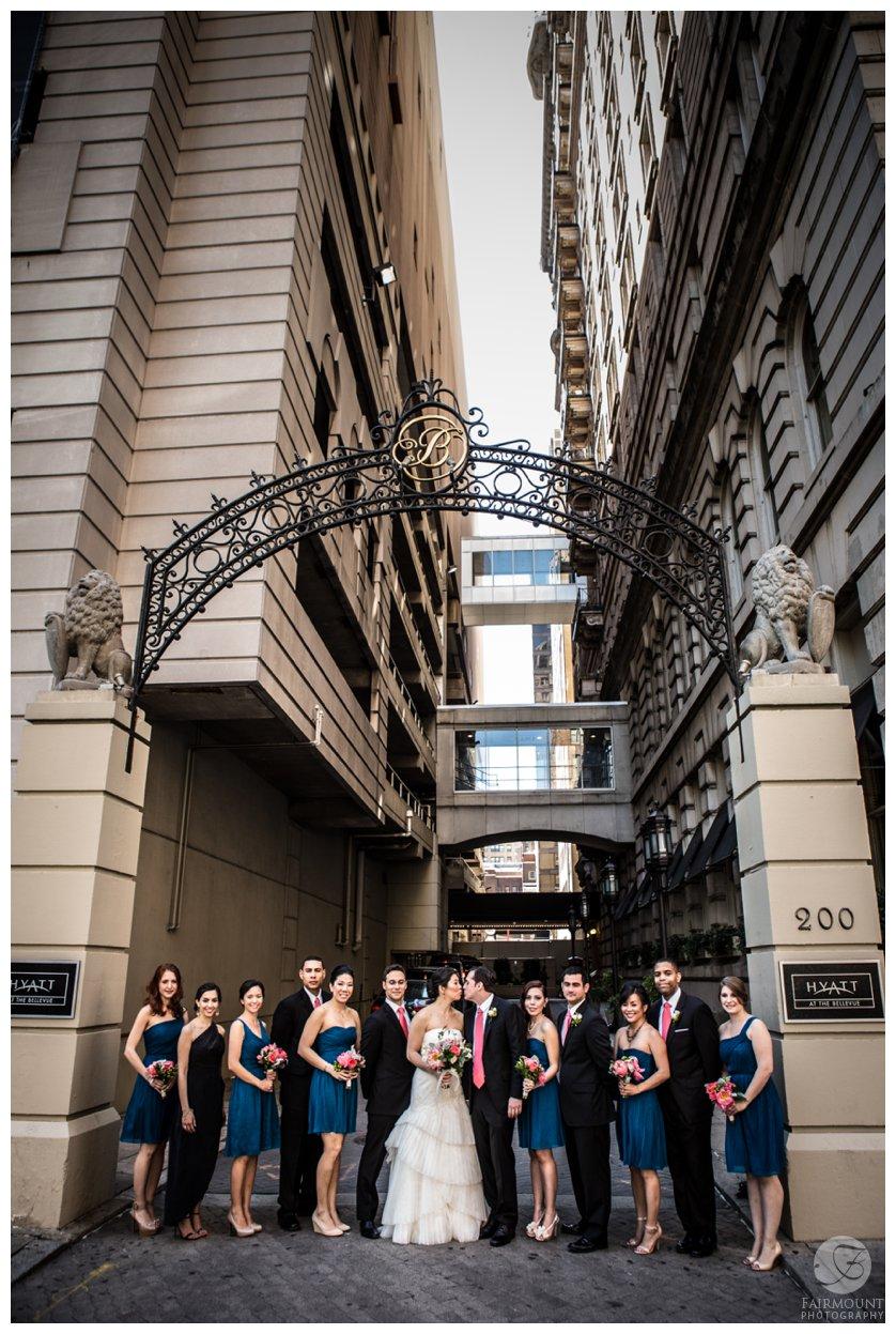 Philadelphia Wedding Photographer Archway Bridal Party Portrait