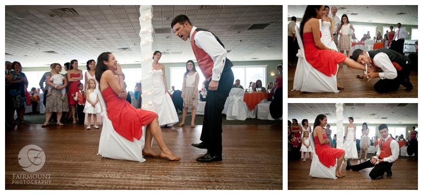 Funny bouquet-garter dance