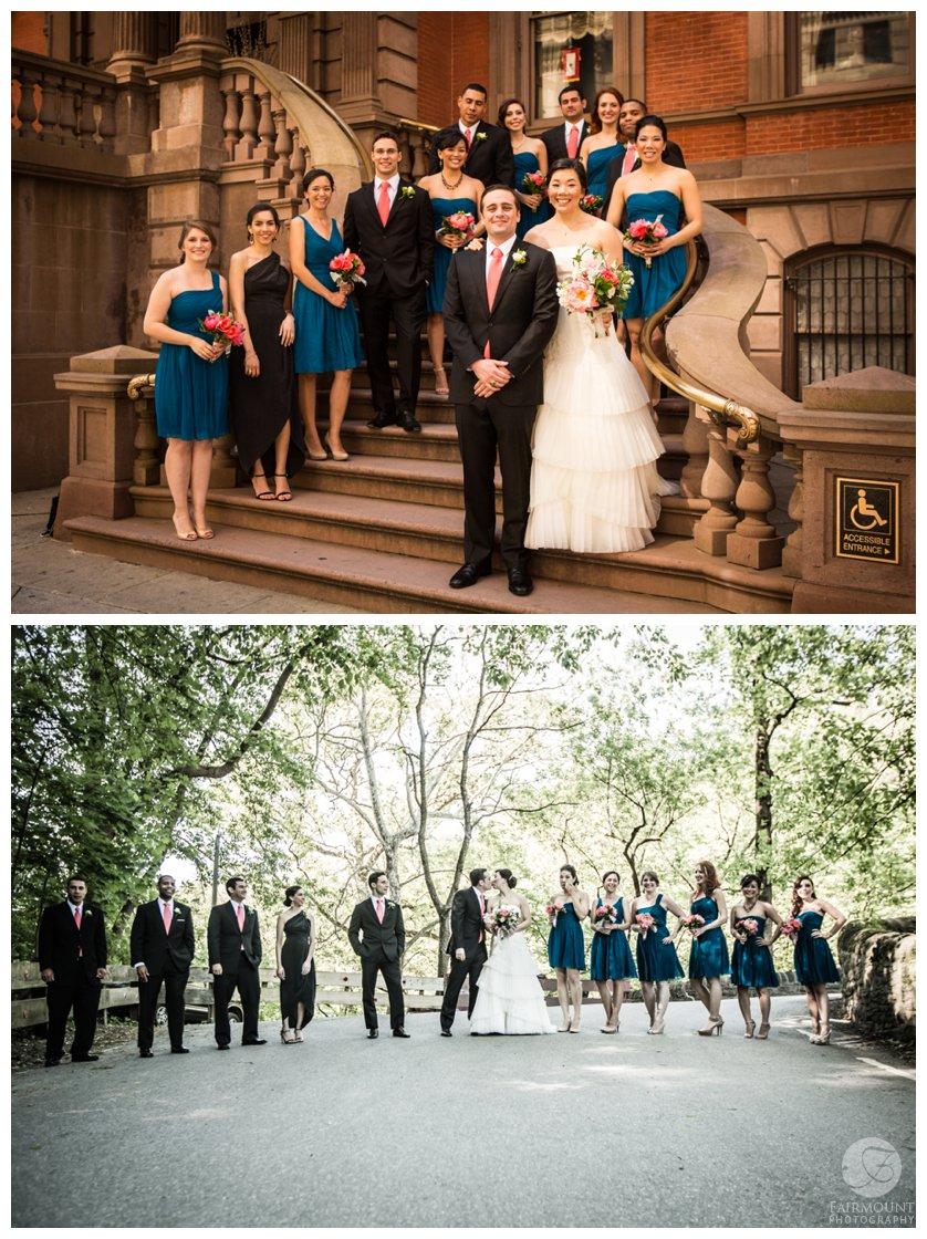 Philadelphia Wedding Photographer Union League Bridal Party Portrait