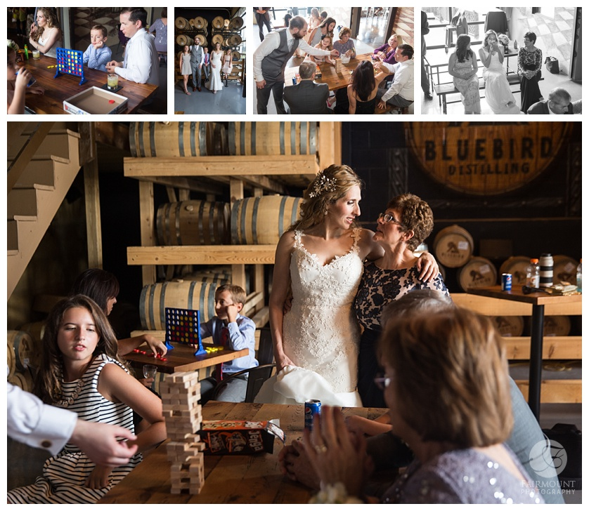 Columbia Station Wedding Bride and Groom Portraits at Bluebird Distilling in Phoenixville