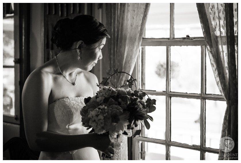 Philadelphia Wedding Photographer Bride Looking Out Window