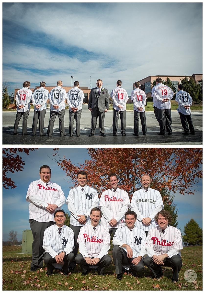 Nothstein Wedding groomsmen baseball jerseys