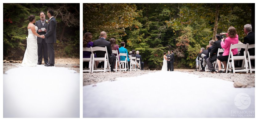 Valley Green Inn outdoor wedding ceremony