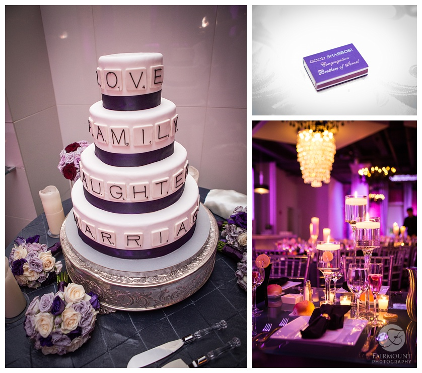 wedding cake and reception details tendenza