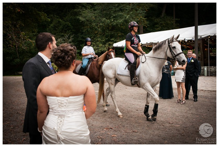 Horses at Valley Green Inn wedding