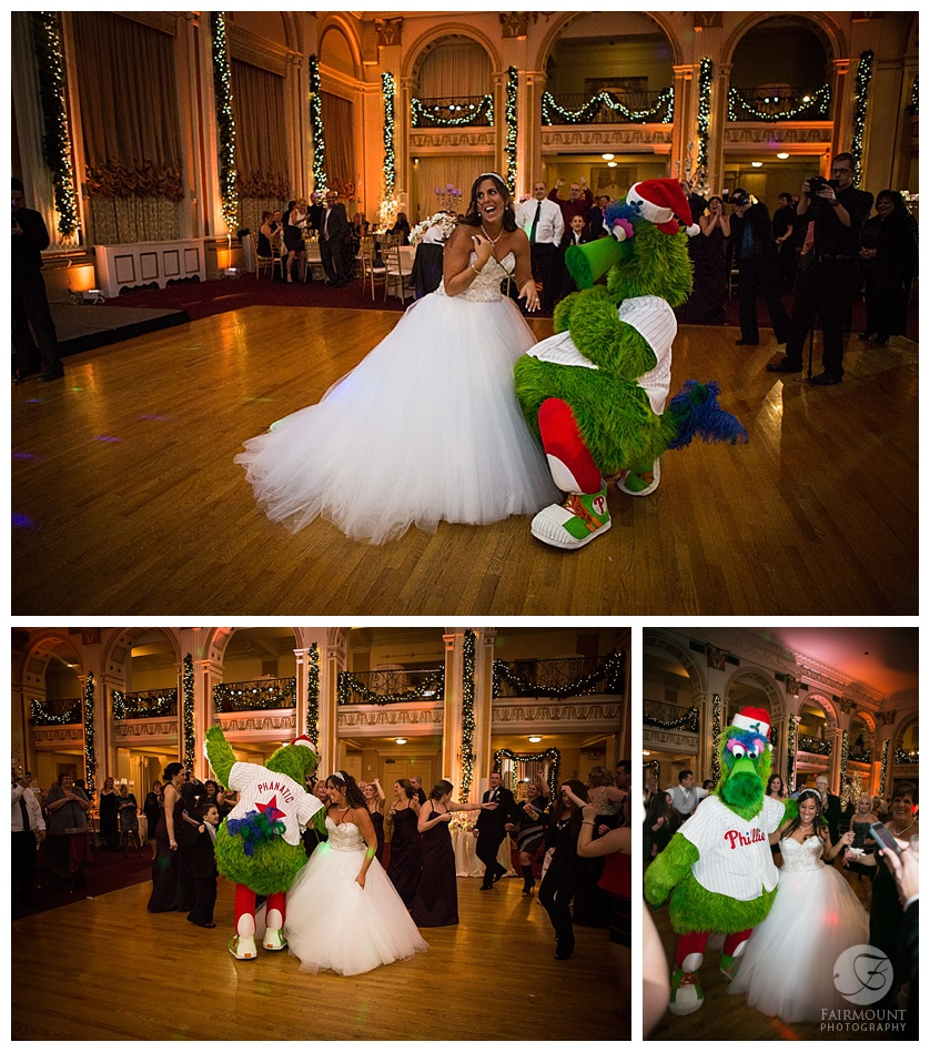 ruiz wedding reception phillies philly phanatic