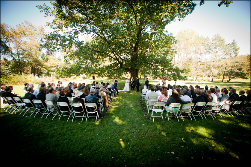 Bethlehem, Pennsylvania autumn wedding ceremony