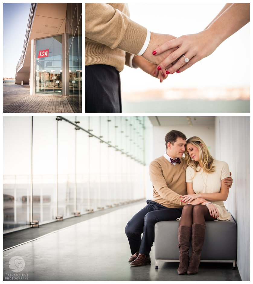 Boston Institute of Contemporary Art Engagement photo session by Fairmount Photography