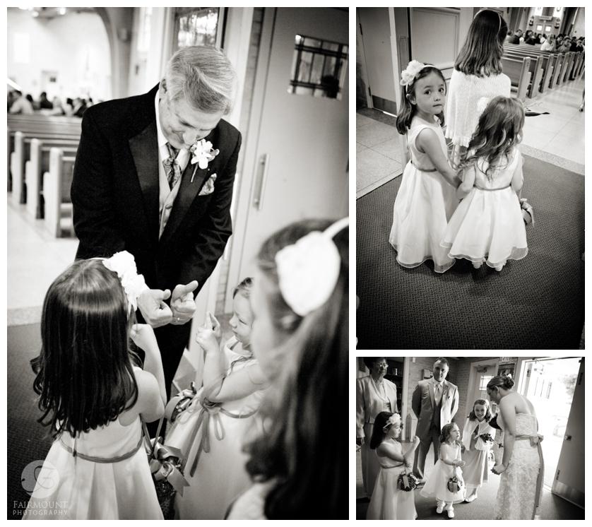 flowergirls before wedding