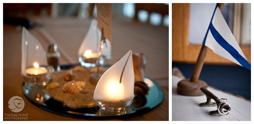 shells and sailboat centerpieces