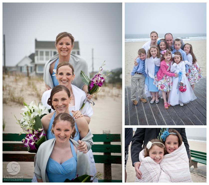 family portraits on Seaside Park beach