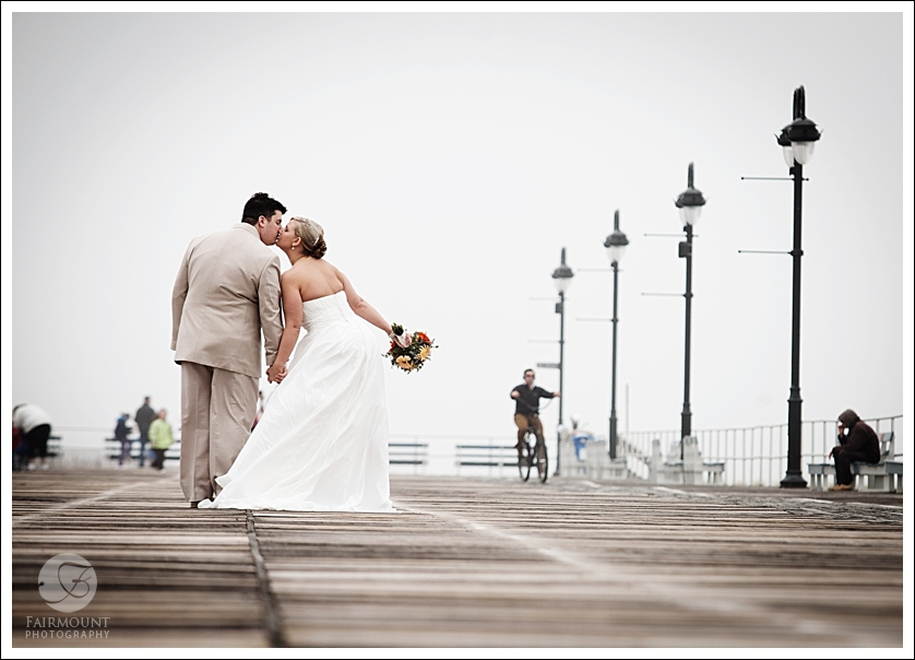 Boadwalk kiss portrait, Ocean City