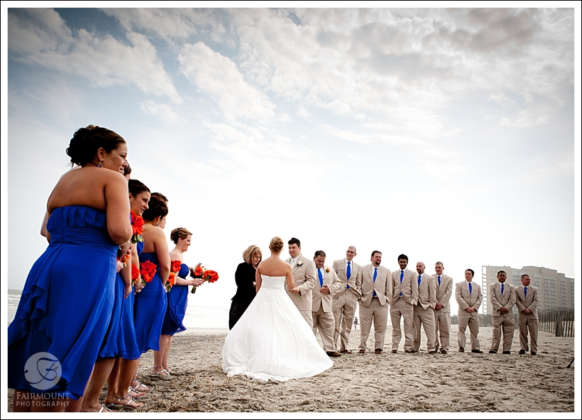 Ocean City beach ceremony at First Street Beach