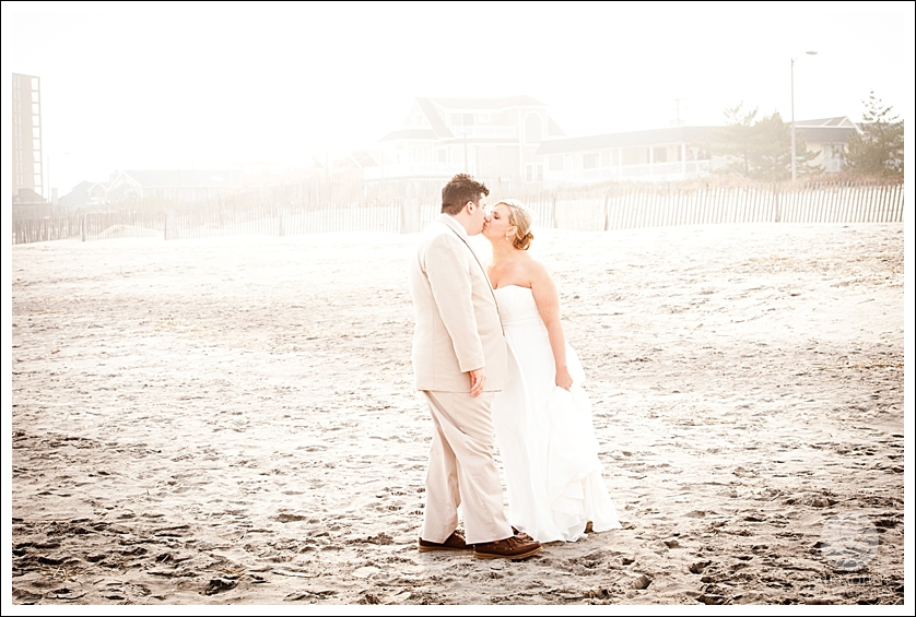 Bridal portrait on beach in Ocean City, NJ