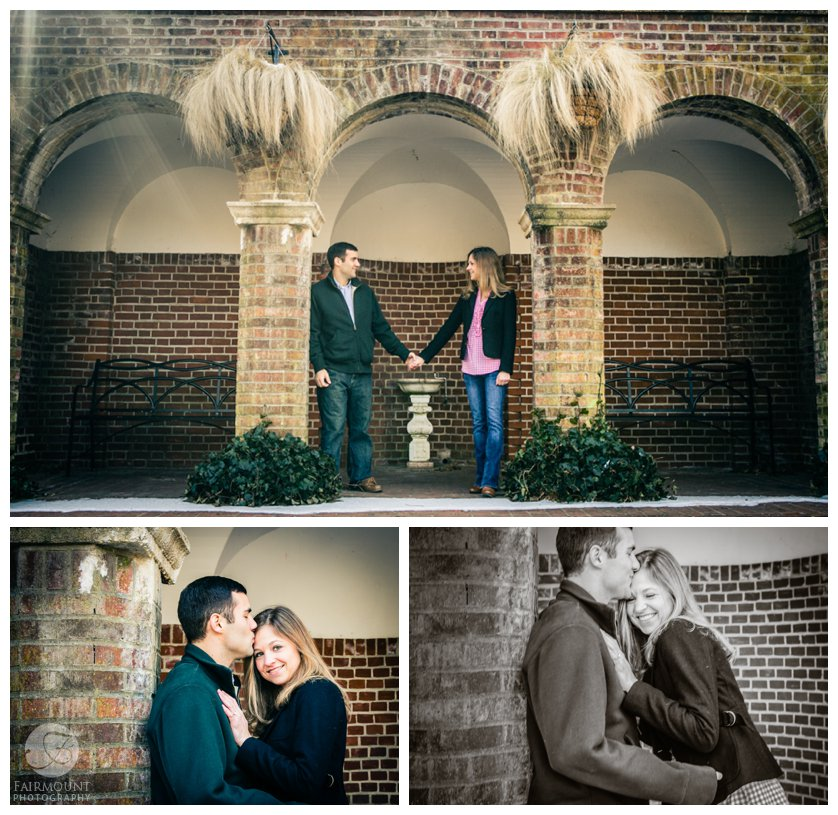 February engagement portraits at Longwood Gardens