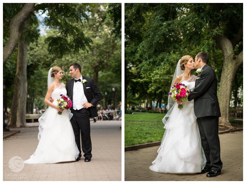 Wedding portraits in Rittenhouse Square