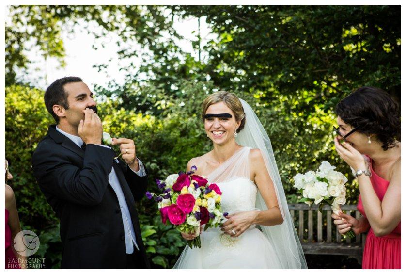 goofy bride & groom photos