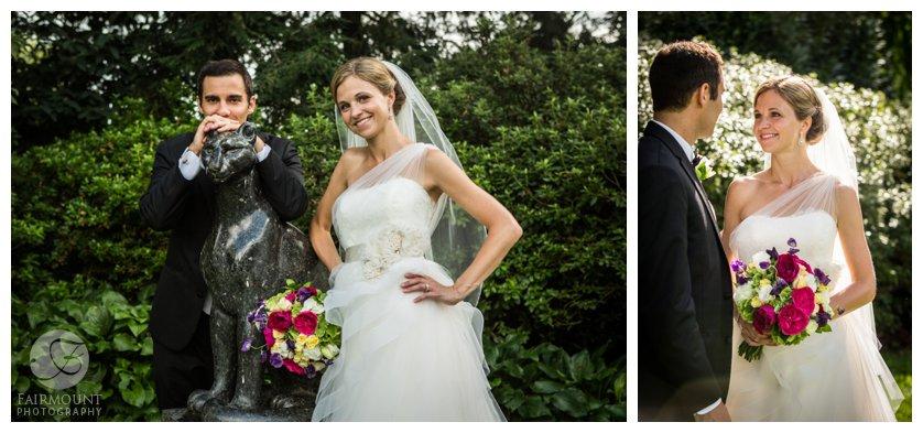 wedding portraits at the Azalea garden in Philadelphia