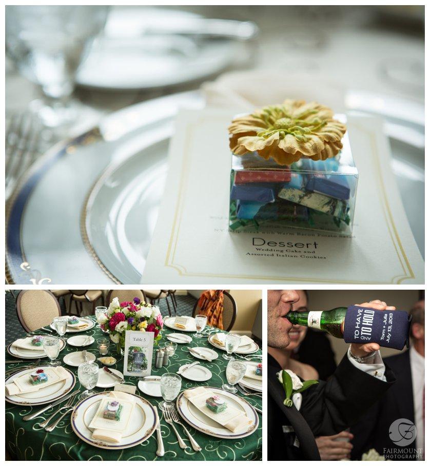 wedding reception at the Pyramid Club