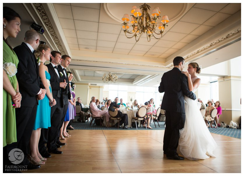 First dance at the Pyramid Club on the 52nd Floor of Center City Philadelphia building