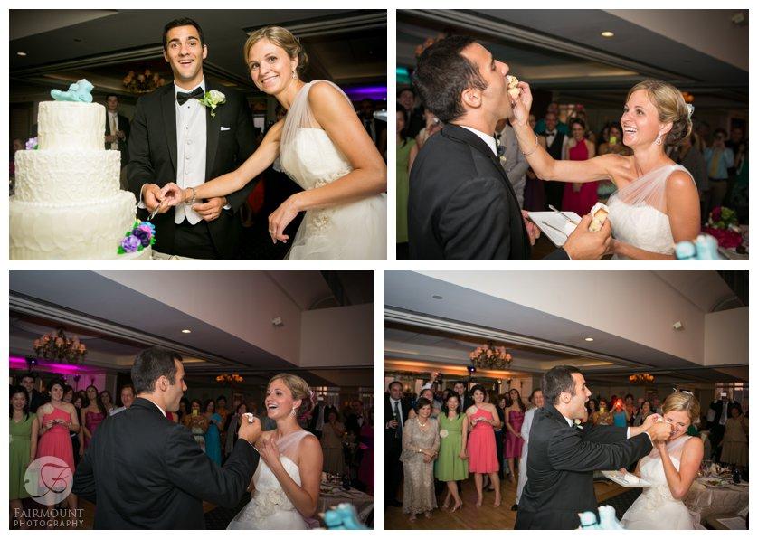 cake smash at Pyramid Club wedding