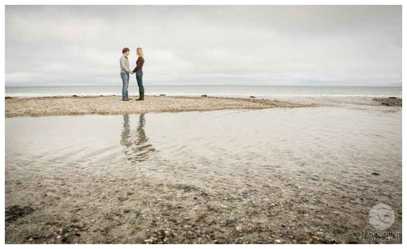 Plymouth beach engagement photo