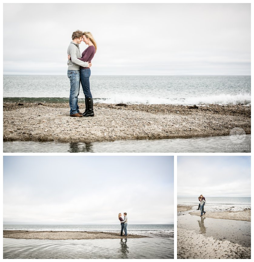 Massachusetts engagement photograph on Plymouth beach