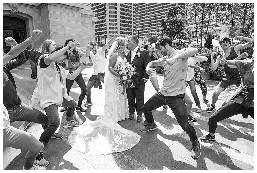 Dilworth Park Wedding Portraits PA Ballet