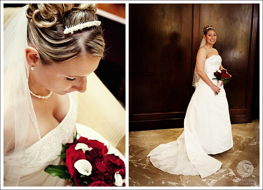 bridal portrait at Doubletree Hotel in Plymouth Meeting