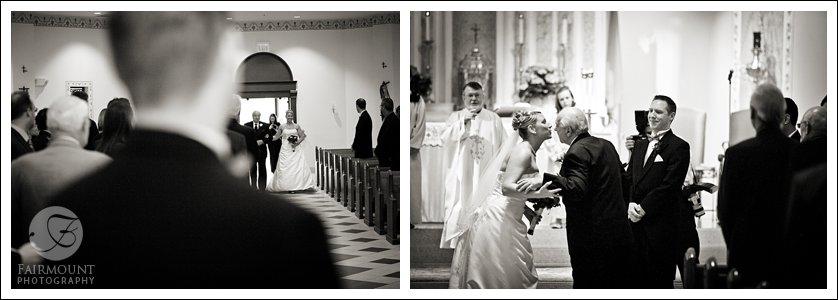 grandfather walks bride down the aisle