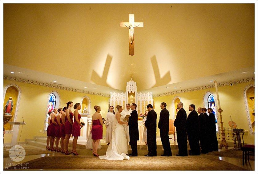 wedding at St. Anthony of Padua Church in Ambler