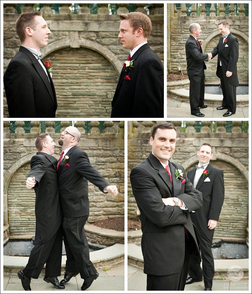 Candid groomsmen portraits