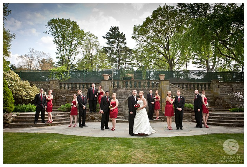 Wedding party at Meadowlands Country Club