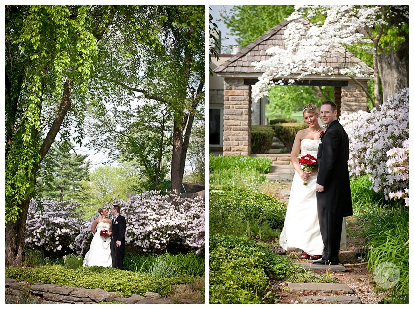 Spring bridal portraits at Meadowlands Country Club