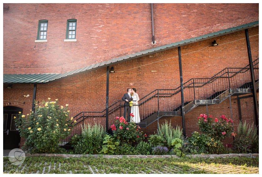 wedding portrait at Crane Arts in North Philadelphia