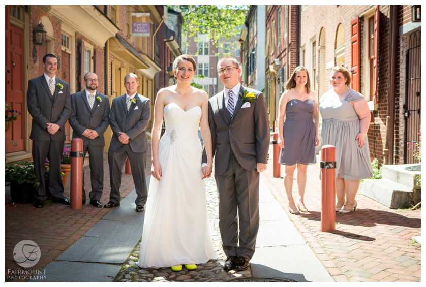bridal party in Elfreth's Alley