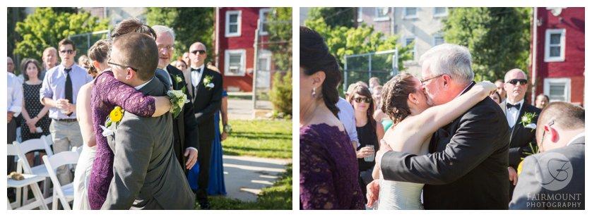 Spring wedding ceremony at Crane Arts in North Philadelphia